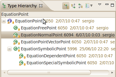 EquationPoint type hierarchy